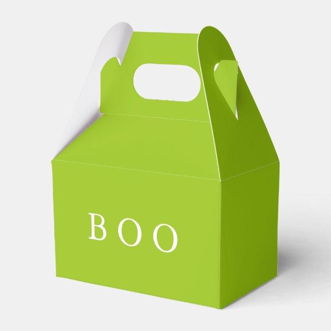 Creepy Hollow Halloween Party Slime Green Boo Box