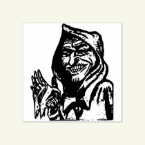 Creepy  hooded  man rubber stamp
