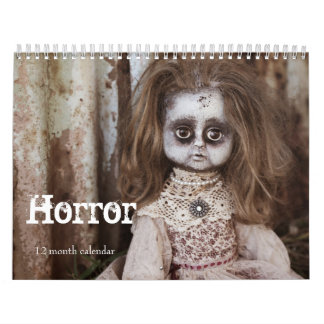 Creepy Horror 2019 Calendar