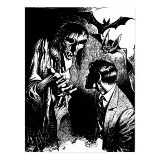 Creepy Horror Creature Nightmare Postcard