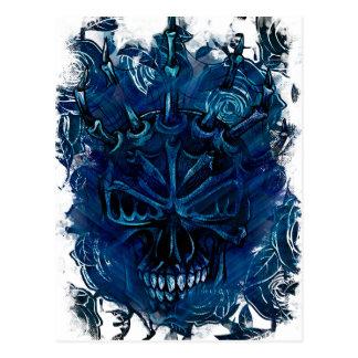 Creepy Horror Skull Postcard
