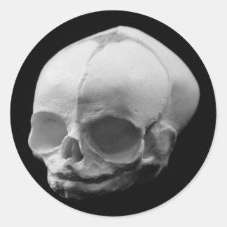 Creepy Infant Skull Goth sticker