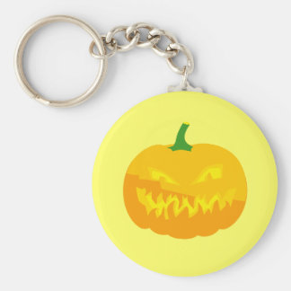 Creepy Jack-O-'Lantern Basic Round Button Keychain