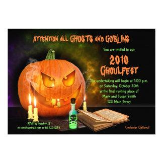 Creepy Jack O Lantern Halloween Party Invitation