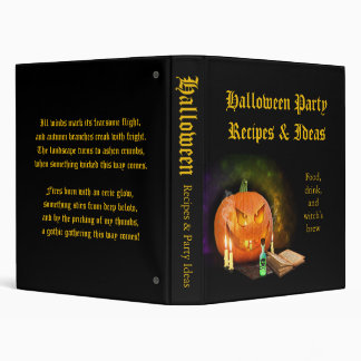 Creepy Jack O Lantern Halloween Recipe Binder
