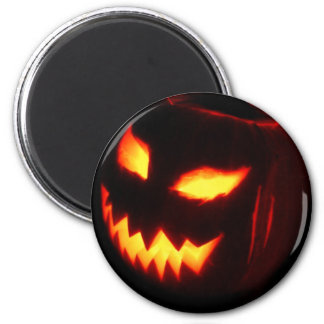 Creepy Jack o lantern pumpkin 2 Inch Round Magnet