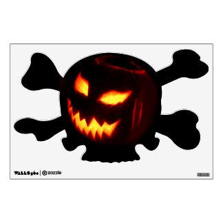Creepy Jack o lantern pumpkin Wall Sticker