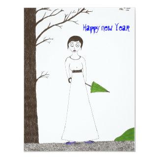 Creepy Jane Austen New Year's invite