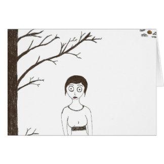 Creepy Jane Austen Rice Painting 2 Card