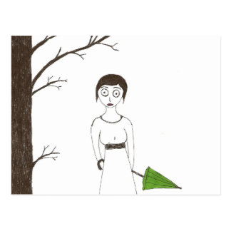 Creepy Jane Austen Rice Painting 2 Postcard