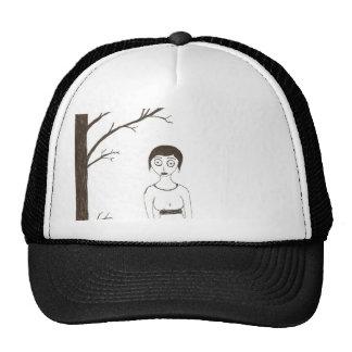 Creepy Jane Austen Rice Painting 2 Trucker Hat