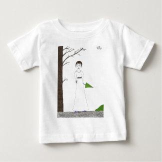 Creepy Jane Austen Rice Painting Baby T-Shirt
