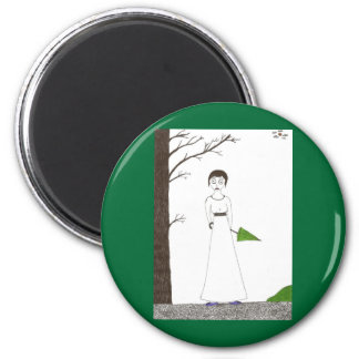 Creepy Jane Austen Rice Painting Magnet