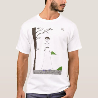 Creepy Jane Austen Rice Painting T-Shirt