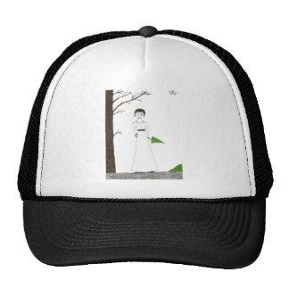 Creepy Jane Austen Rice Painting Trucker Hat