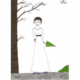 Creepy Jane Austen Rice Portait Cutout