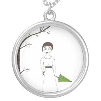 Creepy Jane Austen Rice Portrait Pendants