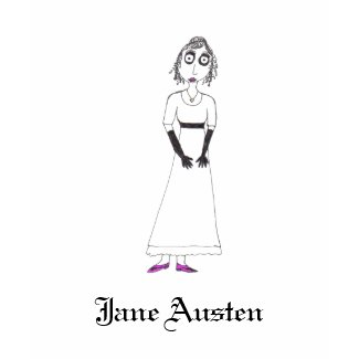 Creepy Jane Austen shirt