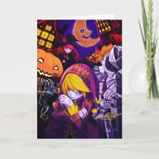 Creepy Kawii Halloween card