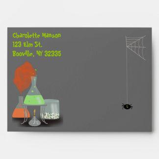 Creepy Laboratory Halloween Envelope - large
