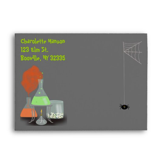 Creepy Laboratory Halloween Envelope - large