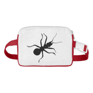 Creepy Large Crawling Fun Marching Big Black Ant Fanny Pack