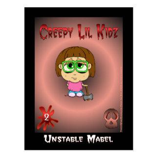Creepy Lil Kidz feat Unstable Mabel Postcard