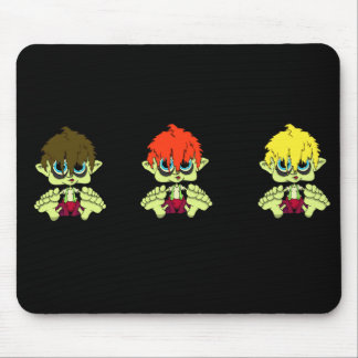 Creepy Lil Triplets Mouse Pad