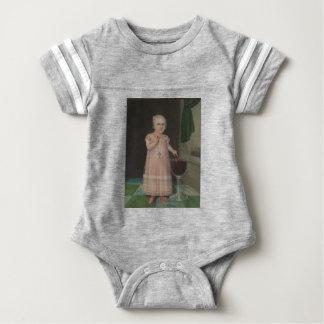 Creepy Little Girl Eats Candy Baby Bodysuit