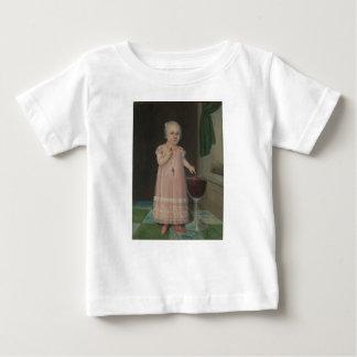 Creepy Little Girl Eats Candy Baby T-Shirt