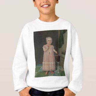 Creepy Little Girl Eats Candy Sweatshirt