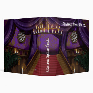 Creepy Mansion Stairway 3 Ring Binder