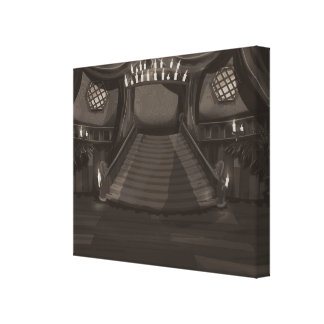 Creepy Mansion Stairway Gallery Wrapped Canvas