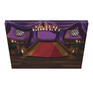 Creepy Mansion Stairway Gallery Wrap Canvas