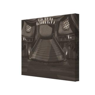 Creepy Mansion Stairway Canvas Print