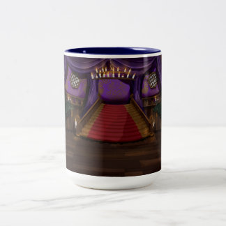 Creepy Mansion Stairway Two-Tone Coffee Mug