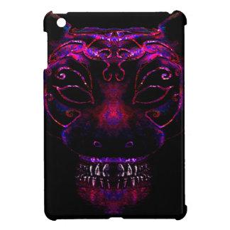Creepy Mask Cat Illustration iPad Mini Case