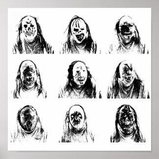 Creepy Masks Poster