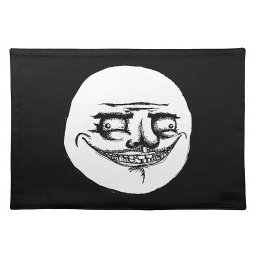 Creepy Me Gusta - Black Placemat Cloth Placemat