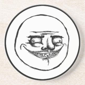 Creepy Me Gusta Face Coaster