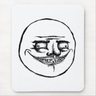 Creepy Me Gusta Face Mouse Pad