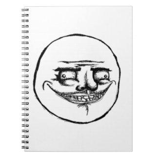Creepy Me Gusta Face Notebook