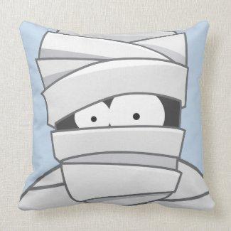 Creepy Mummy Halloween American Mojo Throw Pillow