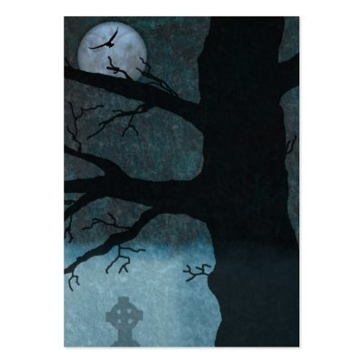 cemetery at night. Creepy night bookmark business
