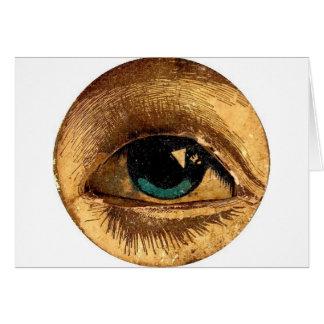 Creepy Odd Eye Ball Looking At You Card