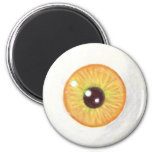 Creepy Orange Eye Magnet