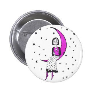 Creepy over the moon and stars button
