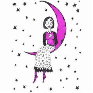 Creepy Over the Moon Cutout
