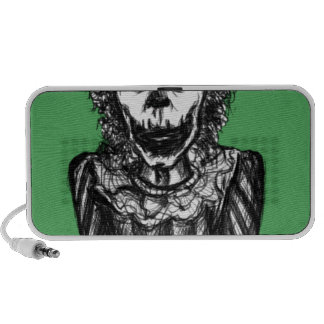 Creepy peek-a-boo clown mp3 speaker