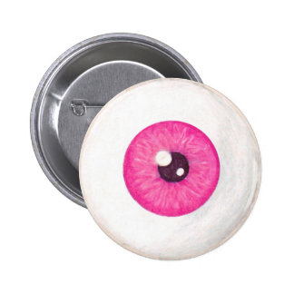 Creepy Pink Eyeball Button